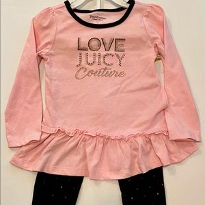Girls 3T Juicy Couture 2 piece outfit pink & black
